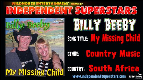 """Click on Independent Superstar """"Billy Beeby"""" to download his latest Hit Song free from"""