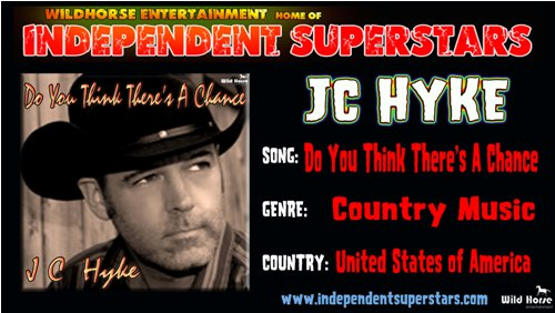 """Click on Independent Superstar """"JC Hyke"""" to download his latest Hit Song free from"""