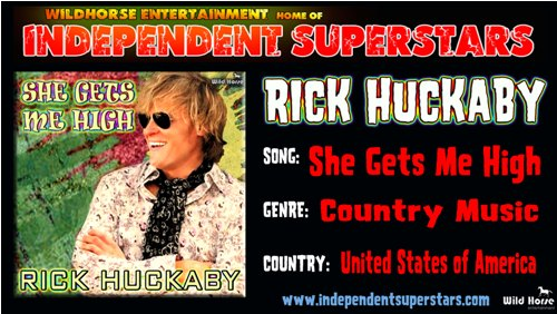 """Click on Independent Superstar """"RickHuckaby"""" to download his latest Hit Song free from"""
