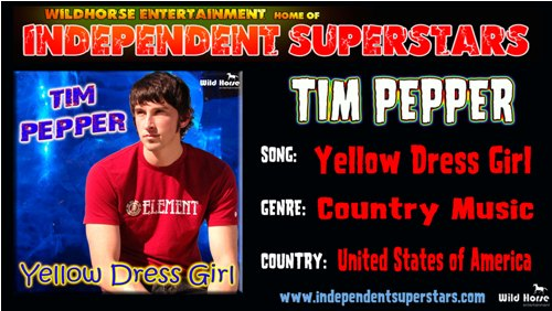 """Click on Independent Superstar """"Tim Pepper"""" to download his latest Hit Song free from"""